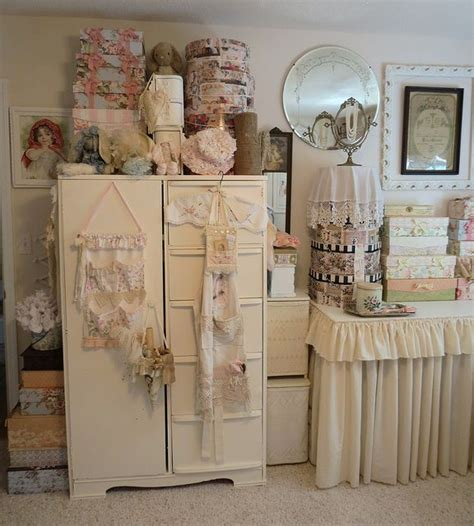 438 Best Shabby Chic Craftroom Images On Pinterest Craft Shabby Chic Sewing Room