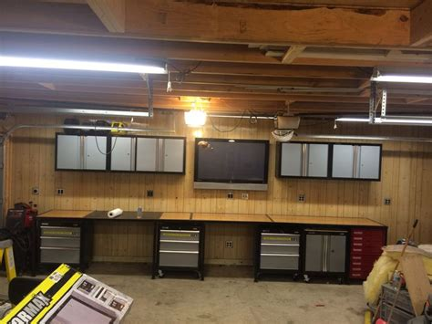 build a shop garage workbench diy garage workbench pinterest