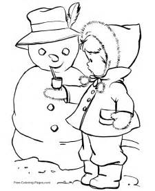 free winter coloring pages winter coloring pages snowman 11