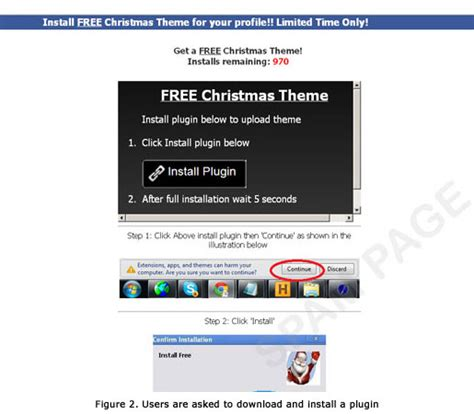 facebook themes url christmas theme for facebook profile leads to malspam