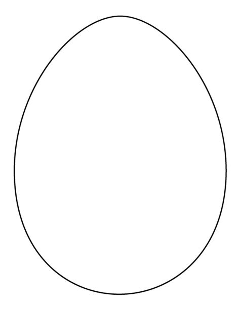 printable full page large egg pattern use the pattern for