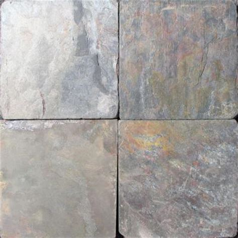 ms international multi color 6 in x 6 in tumbled slate floor and wall tile 1 sq ft case