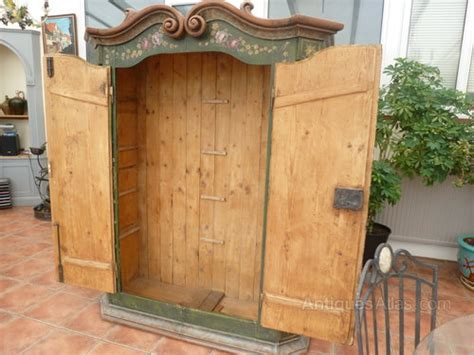 Decorative Wardrobes by Painted Decorative Pine Cupboard Wardrobe 1780 Antiques Atlas