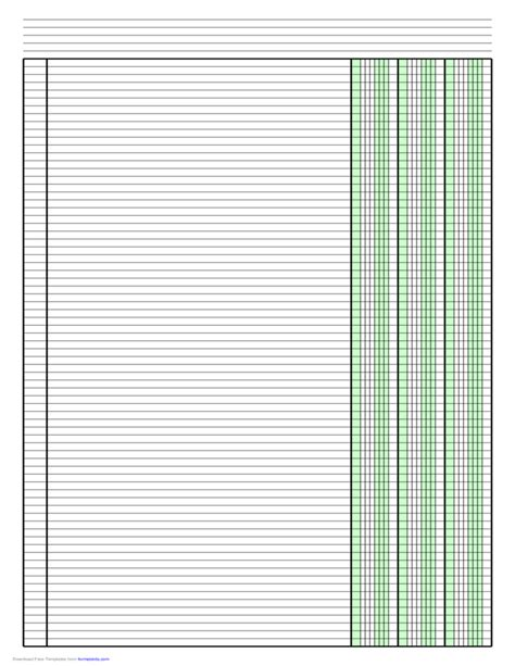 column paper template columnar paper with three columns on ledger sized paper in