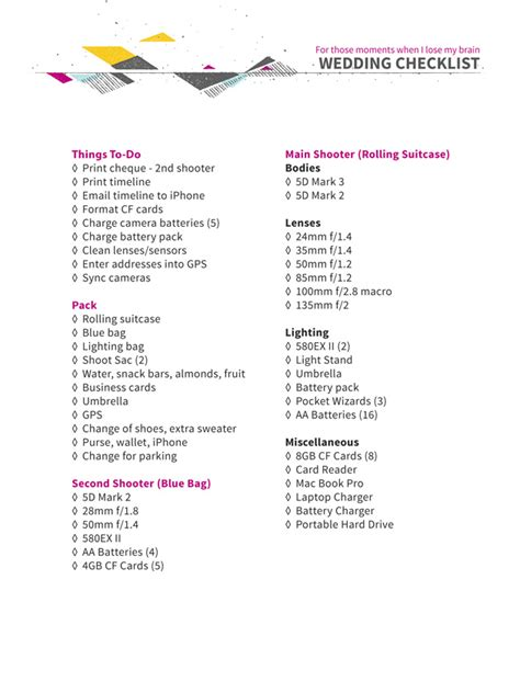 Wedding Photography List by Pre Wedding Photographer Checklist Vancouver Wedding