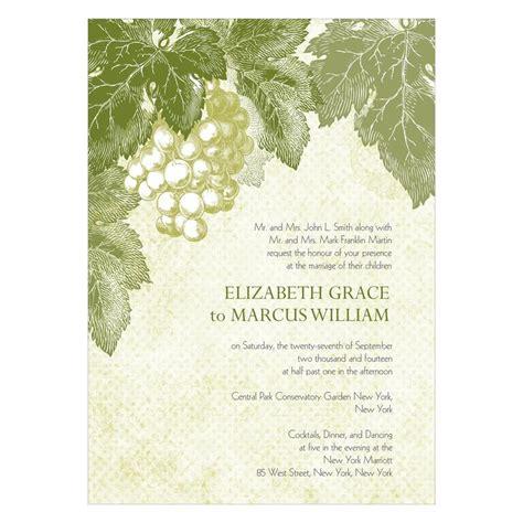 Grape Theme Wedding Invitations by D 233 Cor Ideas For Your Vineyard Wedding