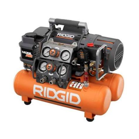 ridgid tri stack 5 gal portable electric steel orange air