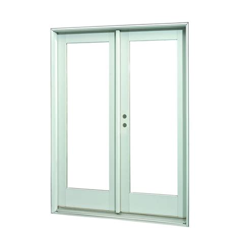 inswing patio door ashworth 72 in x 80 in white lite prehung left