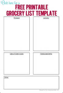 Organized Grocery List Template Organized Grocery List Ask Anna