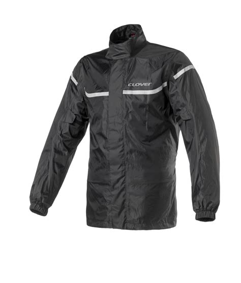 clover wet jacket pro wp uest yagmurluk siyah