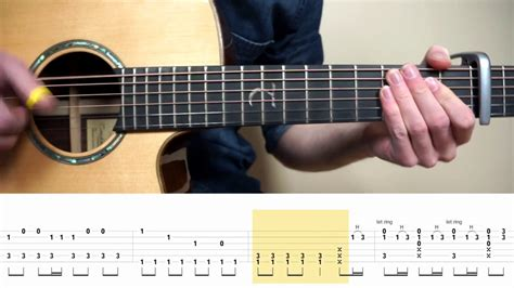 tutorial guitar fingerstyle alessia cara auli i cravalho how far i ll go moana
