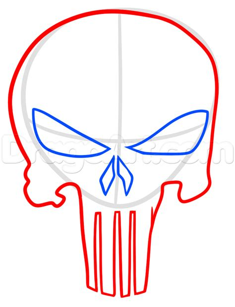 punisher tattoo drawing tutorial step by step marvel