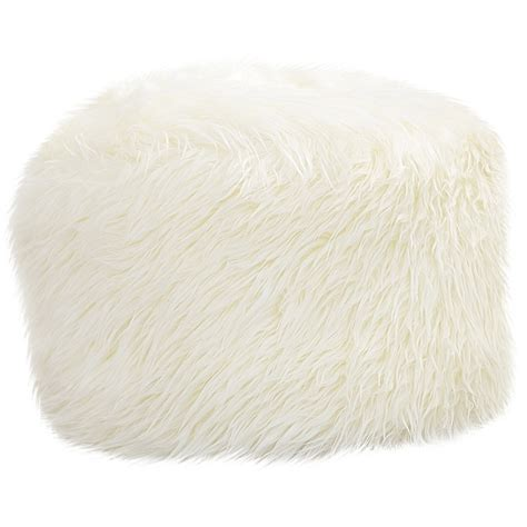 Fluffy Pouf Ottoman zipcode design maricela fuzzy pouf ottoman reviews wayfair