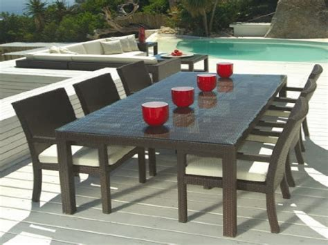 3 pc dining table set, outdoor resin wicker patio dining