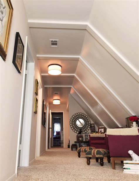 Closet Shelving Ideas long hallway with a slanted ceiling amp sitting area