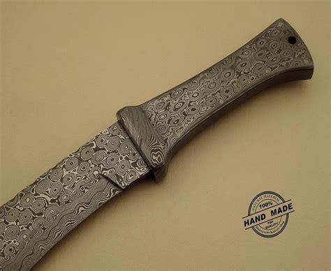 Handmade Damascus Knives - damascus kukuri knife custom handmade