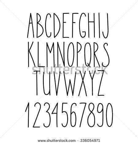 tattoo fonts thin doodle alphabet vector simple letters thin san