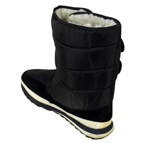 mens moon boots new mens shearling snow quilted thermal warm winter boot