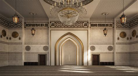design masjid photoshop el zaidan mosque interior design on behance