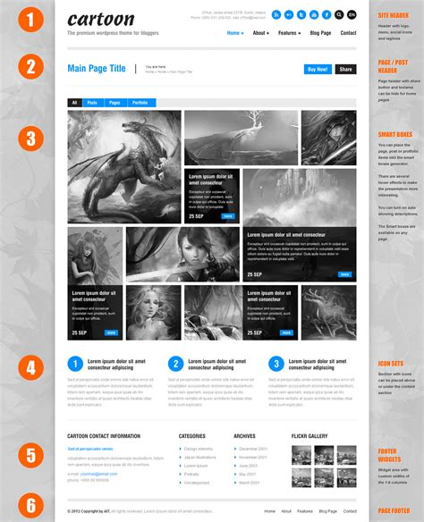 cartoon themes wordpress cartoon un th 232 me de portfolio blog entreprise