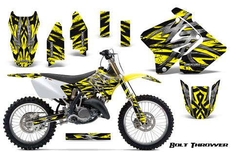 Suzuki Sticker Kit Suzuki Rm 125 250 Graphics Kit 2001 2009 Creatorx Decals
