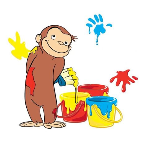 Curious George Name Favor Tag Put This Image In Word And