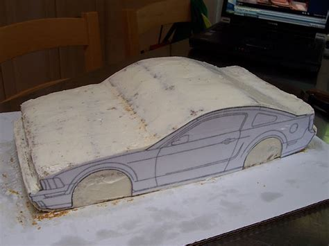 3d car cake template just outta the oven mustang bullit car cake tutorial
