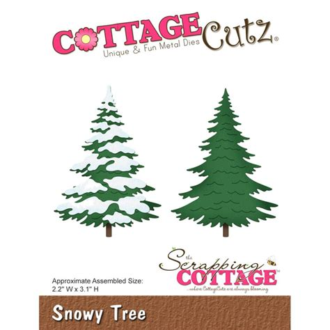 Cottage Cutz Die Snowy Tree Cottage Cutz Dies