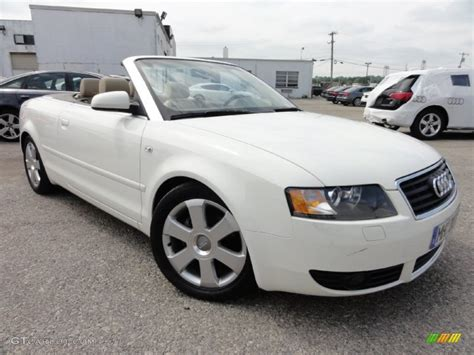 convertible audi white 2006 arctic white audi a4 1 8t cabriolet 66820112 photo