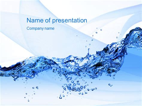 water design for powerpoint crystal water powerpoint template backgrounds 10453