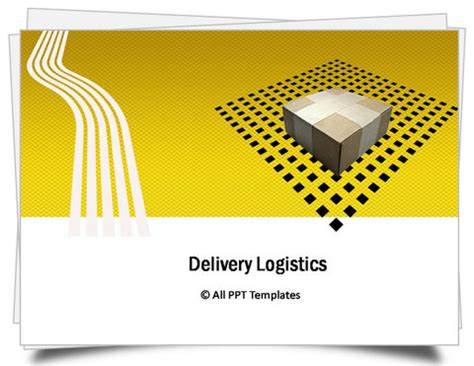 Template Powerpoint Logistics | powerpoint logistics delivery template