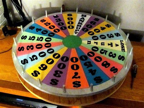 homemade wheel  fortune game home  mini version