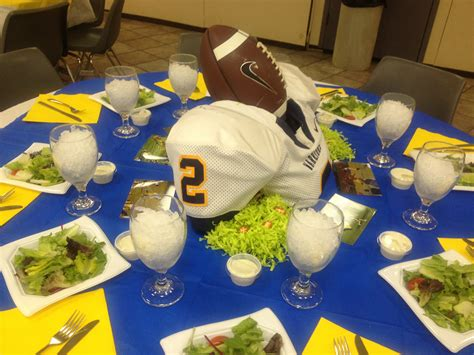 Football Banquet Decorations by Football Banquet Table Ideas