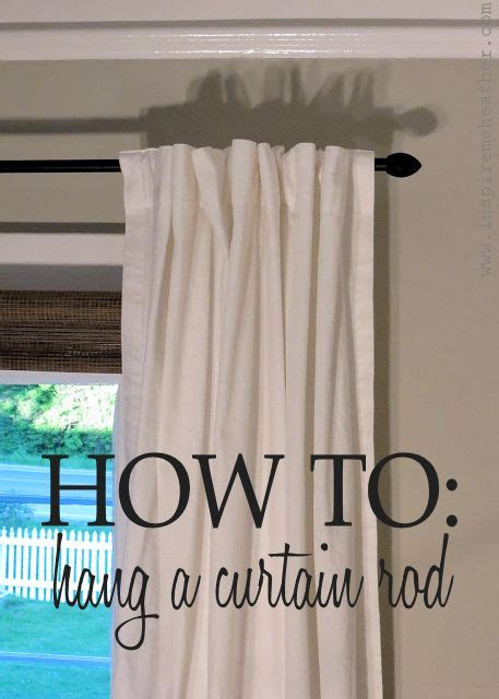 how to hang curtains simple tips for a bigger and 25 best images about curtain rods new ideas on pinterest