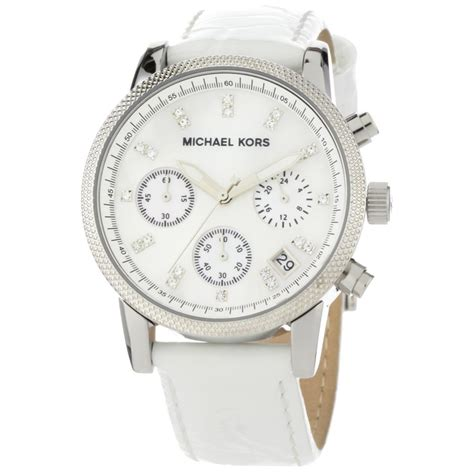 michael kors s white leather jewelry