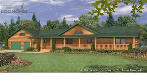 cabin style home plans ranch style log cabin floor plans