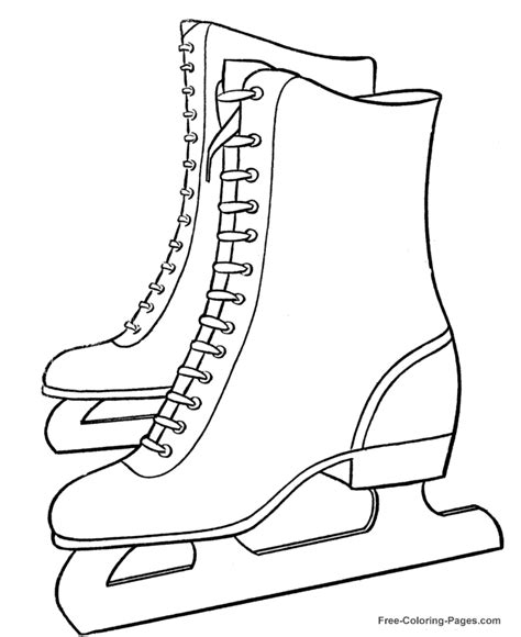 hockey skates coloring pages print winter coloring pages ice skates