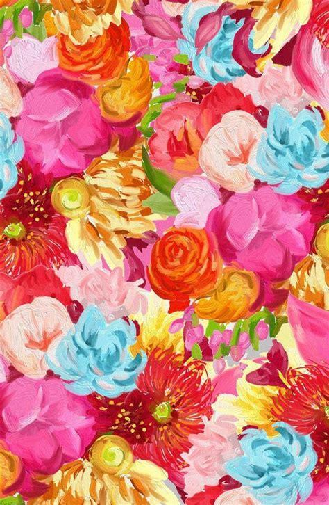 pinterest pattern art handpainted flower pattern art print printemps fleur et