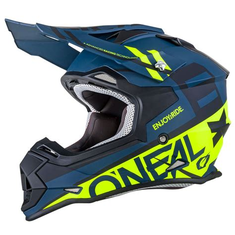 Helm Cross Oneal 3 Series Fuel Blue Hi Vis casque cross o neal 2 series rl spyde noir jaune fluo 2018 enduro motoblouz