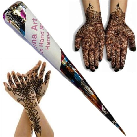 henna hand tattoo kits single henna mehndi temporary tattoo kit cone fresh hand