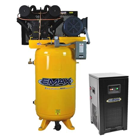 emax industrial plus series 80 gal 7 5 hp 1 phase 2 stage stationary electric air compressor