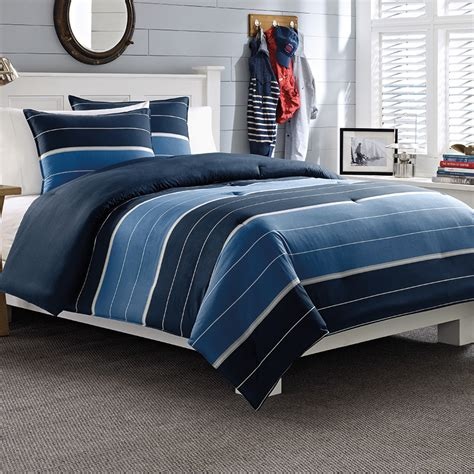 navy stripe comforter set nautica danbury navy stripe comforter and duvet sets from