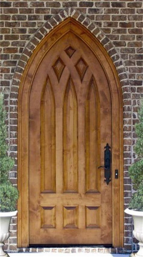 Church Exterior Doors Dbyd 7010 This Sized Custom Designed Cathedral Top Church Door Is Built In Knotty Alder