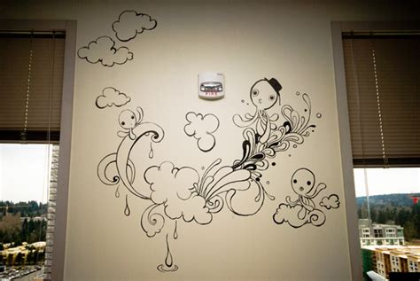 cool drawings on bedroom walls my first wall drawing by yujai on deviantart