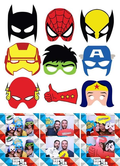 printable photo booth props superhero custom photo booth props diy photo booth props photo