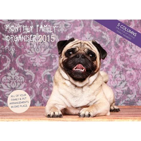 pug target magnet steel pug 2015 wall calendar target