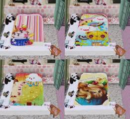 Toddler Bed Blanket Sims 3 Empire Sims 3 Kawaii Bed Blanket By Mz