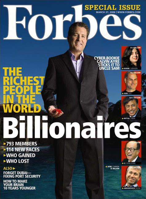 Magazines 2006 Most Annoying List by Forbes 2010 List Of Wealthiest Is Released Gemma