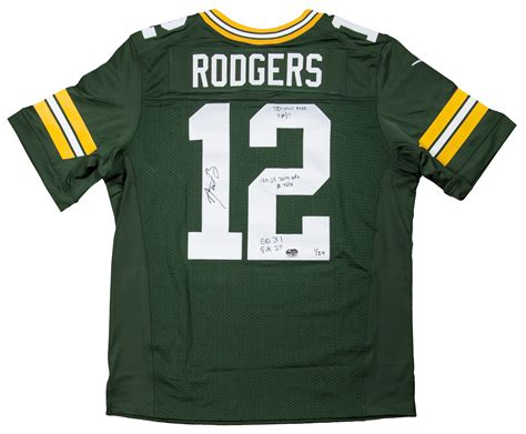 Jersey Fanatic lot detail aaron rodgers signed and inscribed green bay
