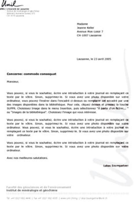 Exemple De Lettre De Motivation Suisse Lettre Type Suisse Lettre De Motivation 2017